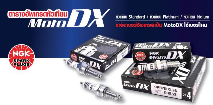 ตารางอัพเกรดหัวเทียนมอเตอร์ไซค์ เป็น NGK MotoDX