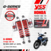 YSS โช๊คแก๊ส G-SERIES LEGEND ใช้อัพเกรดสำหรับ Honda WAVE 125i / Wave 110i ปี 2013 ขึ้นไป 【 RC302-320T-61-859L 】 โช๊คคู่หลัง สปริงแดง/กระบอกเงิน [ โช๊ค YSS แท้ ประกันโรงงาน 6 เดือน ]