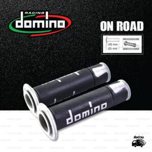 DOMINO MANOPOLE GRIP ปลอกแฮนด์ รุ่น A450 รุ่นใหม่ล่าสุด สีดำ-เทา ใช้สำหรับรถมอเตอร์ไซค์ [ 1 คู่ ]
