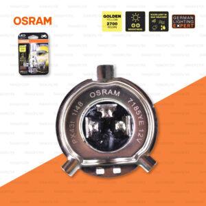 OSRAM หลอดไฟหน้ามอเตอร์ไซค์ LED ขั้ว HS1 สี GOLDEN YELLOW / 2,700 KELVIN PX43t [ 12V / 5-5.5W ] 7185YE