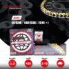 JOMTHAI ชุดเปลี่ยนโซ่-สเตอร์ โซ่ X-ring (ASMX) สีทอง และ สเตอร์สีดำ เปลี่ยนมอเตอร์ไซค์ Honda CB150R / CBR150R ปี 2019 ขึ้นไป [15/47]