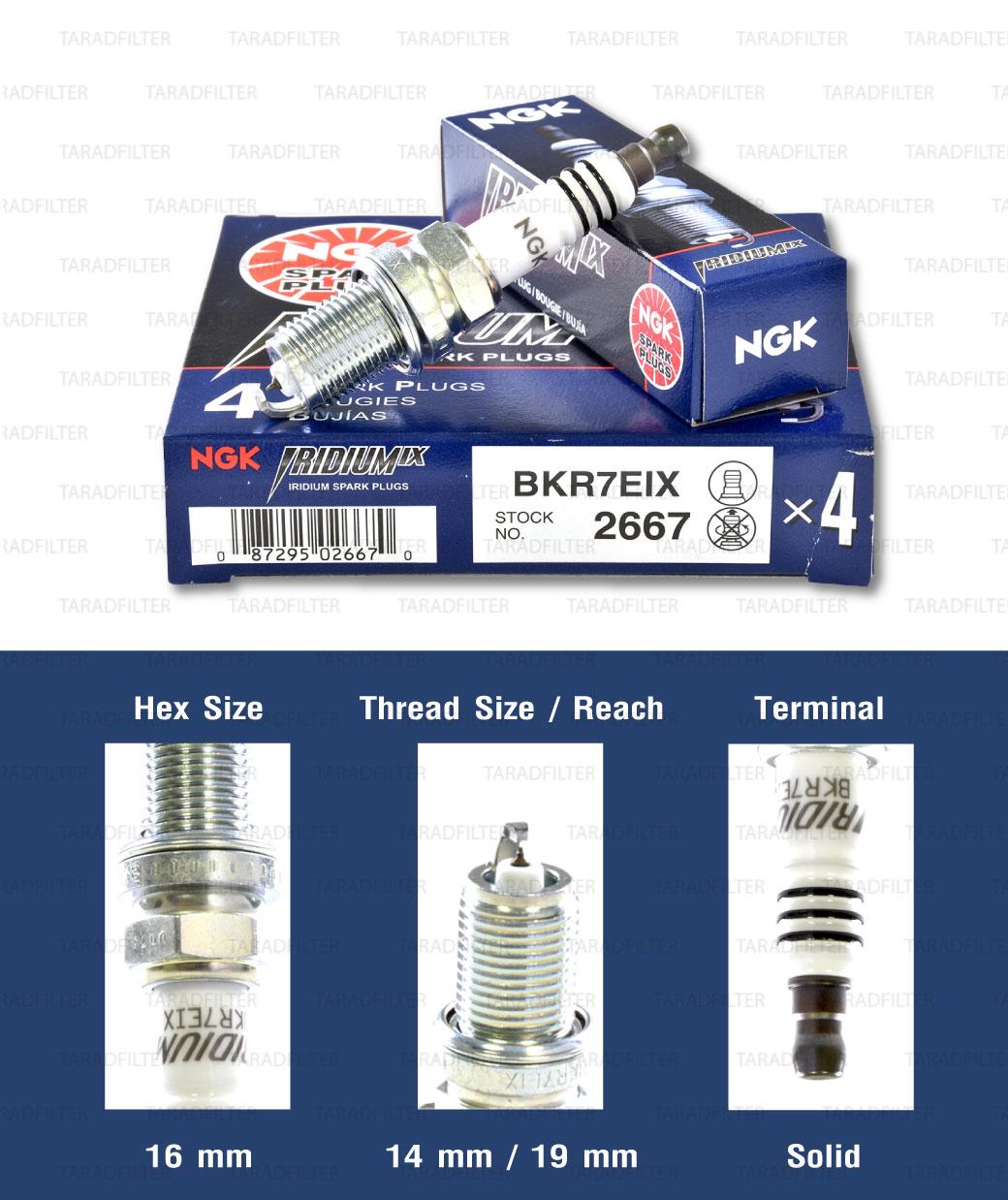 หัวเทียน NGK BKR7EIX ขั้ว Iridium (1 หัว) - Made in Japan
