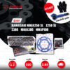 JOMTHAI ชุดโซ่สเตอร์ Pro Series โซ่ X-ring สีดำหมุดทอง และ สเตอร์สีดำ ใช้สำหรับมอเตอร์ไซค์ Kawasaki Ninja250 SL / Z250 SL / Z300 / Ninja300 / Ninja400 [14/41]