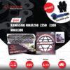 JOMTHAI ชุดโซ่สเตอร์ Pro Series โซ่ X-ring สีดำหมุดทอง และ สเตอร์สีดำ(EX) ใช้สำหรับมอเตอร์ไซค์ Kawasaki Ninja250 SL / Z250 SL / Z300 / Ninja300 / Ninja400 [14/44]