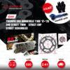 EK / JOMTHAI ชุดโซ่-สเตอร์ Pro Series โซ่ EK O-ring รุ่น SRO สีดำหมุดทอง และ สเตอร์สีดำ Triumph 900 Bonneville T100 '17-'20 / 900 Street Twin / Street Cup / Street Scrambler [17/41]