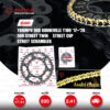 JOMTHAI ชุดโซ่-สเตอร์ Pro Series โซ่ ZX-ring (ZSMX) สีทอง และ สเตอร์สีดำ ใช้สำหรับมอเตอร์ไซค์ Triumph 900 Bonneville T100 '17-'20 / 900 Street Twin / Street Cup / Street Scrambler [17/41]