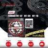 JOMTHAI ชุดโซ่-สเตอร์ Pro Series โซ่ ZX-ring (ZSMX) สีเหล็กติดรถ และ สเตอร์สีดำ ใช้สำหรับมอเตอร์ไซค์ Yamaha MT-07 / MT-09 / MT-10 [16/43]
