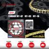 JOMTHAI ชุดโซ่-สเตอร์ Pro Series โซ่ ZX-ring (ZSMX) สีทอง และ สเตอร์สีดำ ใช้สำหรับมอเตอร์ไซค์ Yamaha MT-07 / MT-09 / MT-10 [16/45]