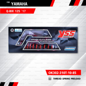 YSS โช๊คแก๊ส ใช้อัพเกรดสำหรับ Yamaha QBIX Q-Bix 125 '17【 OK302-310T-10-85】 โช๊คเดี่ยวหลังสำหรับสกู๊ตเตอร์ [ โช๊ค YSS แท้ ประกันโรงงาน 6 เดือน ]