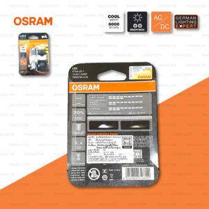 OSRAM หลอดไฟหน้ามอเตอร์ไซค์ LED รุ่น T19 สี COOL WHITE / 6,000 KELVIN [ 13.5V / 5-6W ] รุ่นแปลงกระแสสลับเป็นกระแสตรงในตัว