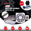 JOMTHAI ชุดเปลี่ยนโซ่-สเตอร์ โซ่ X-ring (ASMX) สีดำ-หมุดทอง และ สเตอร์สีดำ Ducati 400 Scrambler Sixty2 '16-'20 [15/48]