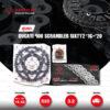 JOMTHAI ชุดเปลี่ยนโซ่-สเตอร์ โซ่ ZX-ring (ZSMX) สีเหล็กติดรถ และ สเตอร์สีดำ Ducati 400 Scrambler Sixty2 '16-'20 [15/48]