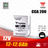 YUASA แบตเตอรี่แห้ง AGM [ YTX14L-BS ] 12V 12-12.6Ah ใช้สำหรับ Harley Davidson Street 750, Sportster 883, Sportster1200, XR1200X